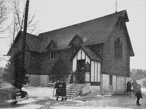 The old St. Martin's which is now the chapel in Hulse, Playfair, and McGarry Funeral Home
