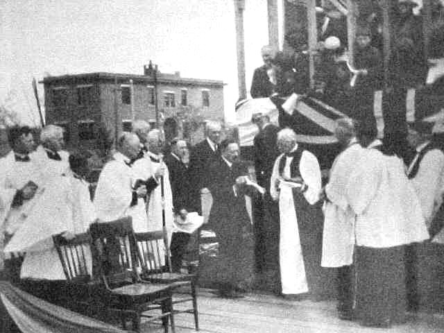 The laying of the first corner stone of St. Martin's church May 31, 1924