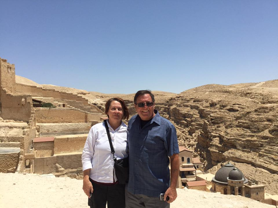 Irene and John at Mar Saba